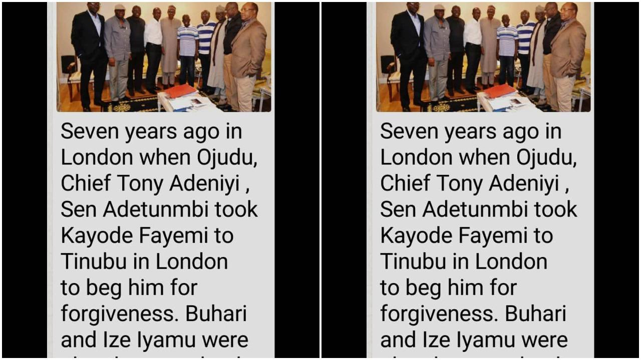 Fayemi begging Tinubu